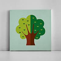Детская картина на холсте Дерево 30х30 см
