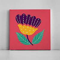 Детская картина на холсте Сказочный цветок 30х30 см