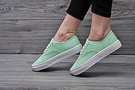 Стильные женские кеды ванс, Vans Light Green