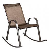 Садовое кресло-качалка Dublin из текстилена коричневое