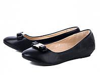 Черные балетки эко кожа больших размеров 41 26,2 см