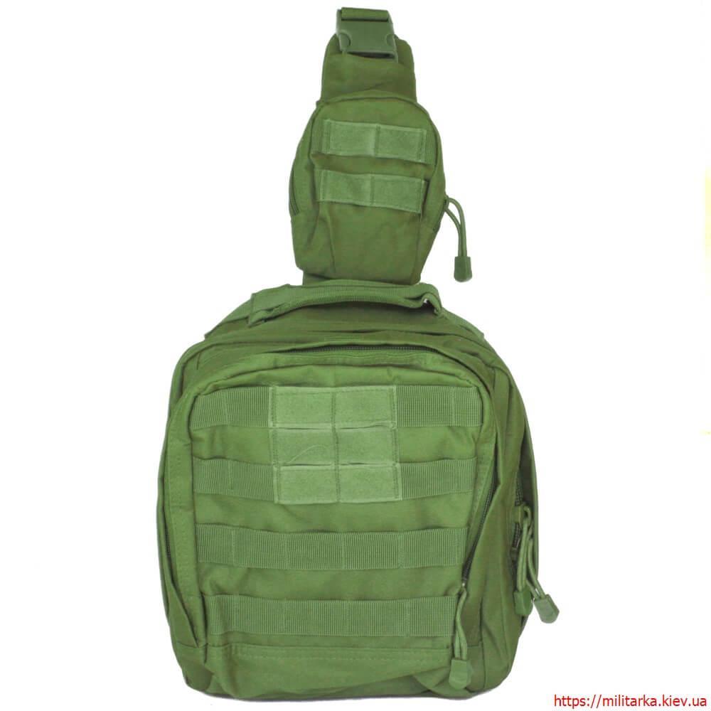 53fcf3cf43e5 Тактическая сумка через плечо с MOLLE олива купить в военторге Милитарка