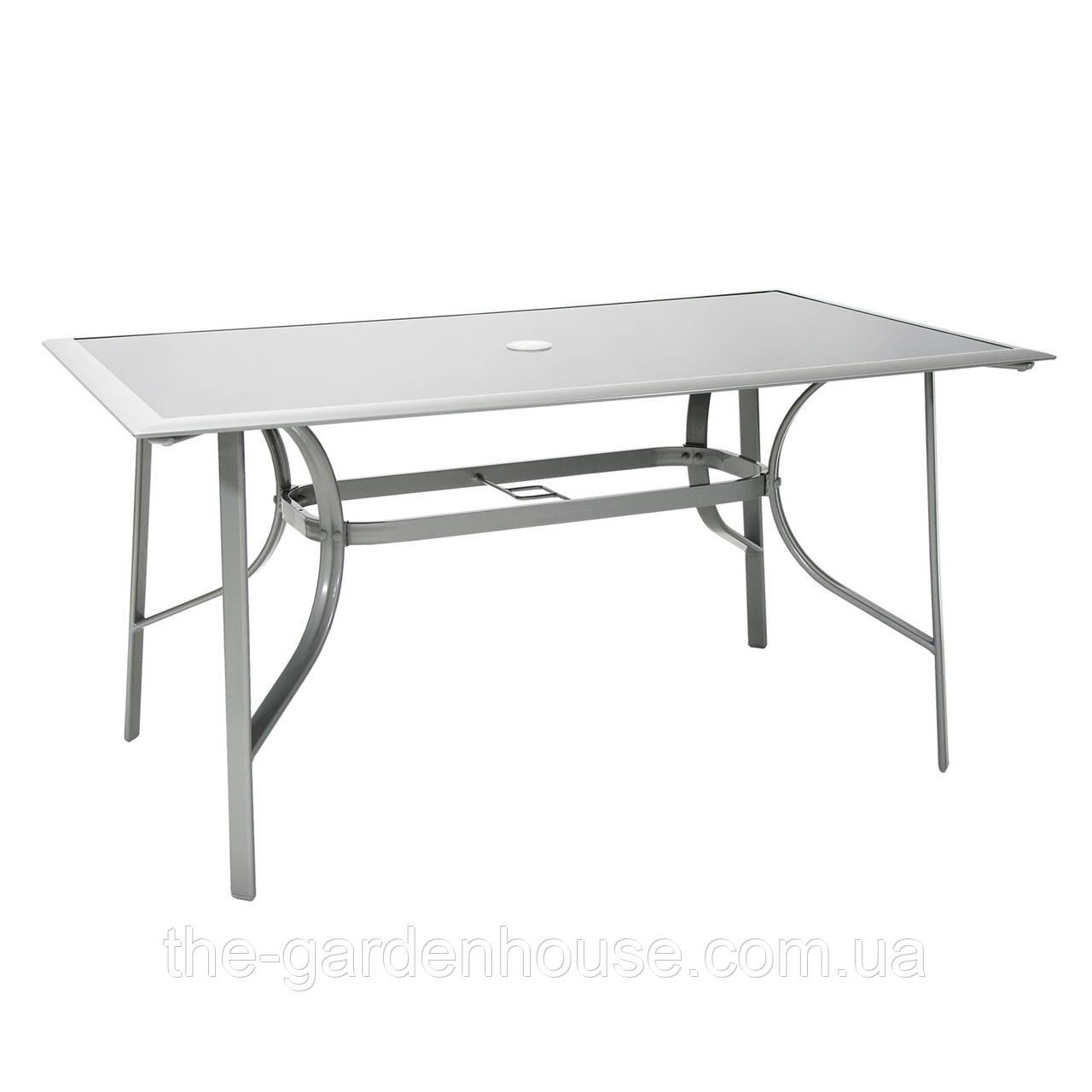 Садовый стол DENVER со стеклом 148х88 см
