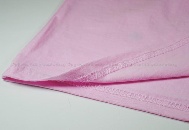 Светло-розовая детская классическая футболка для девочек