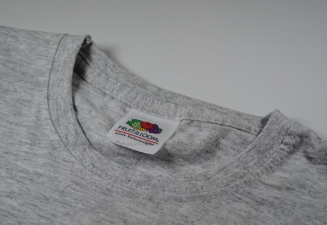 Серо-лиловая детская классическая футболка для девочек