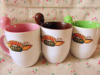 Печать на чашке с ложкой