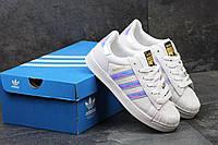 Женские кроссовки Adidas Superstar, серебристые