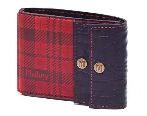 """Кожаный зажим для денег универсальный """"Шотландия"""" Makey"""