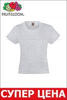 Детская Классическая футболка для Девочек Серо-лиловая Fruit of the loom 61-005-94 9-11