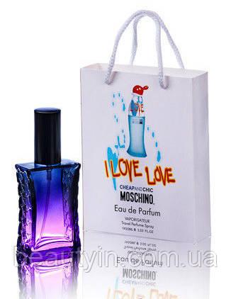 Мини парфюм Moschino I Love Love в подарочной упаковке 50 ml