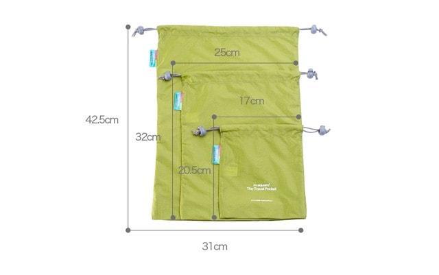 Набор водонепроницаемых мешочков для белья на завязочках размеры