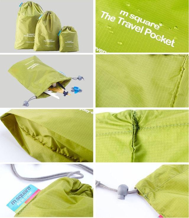 Набор водонепроницаемых мешочков для белья на завязочках детали