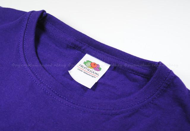 Фиолетовая детская классическая футболка для девочек