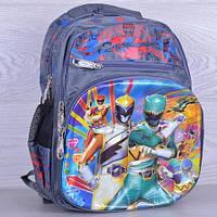 """Рюкзак школьный c 3d рисунком """"Hero"""". 1-4 класс. Серый. Оптом и в розницу"""