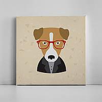 Детская картина на холсте Собака 30х30 см