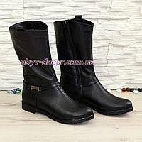 Женские демисезонные кожаные ботинки на низком ходу, декорированы ремешками.., фото 1