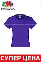 Детская Классическая футболка для девочек Фиолетовая Fruit of the loom 61-005-PE 7-8