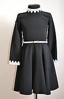 Детское школьное платье для девочки черный, фото 1