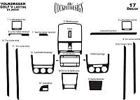 Накладки на панель Фольцваген Гольф / Volkswagen Golf 5