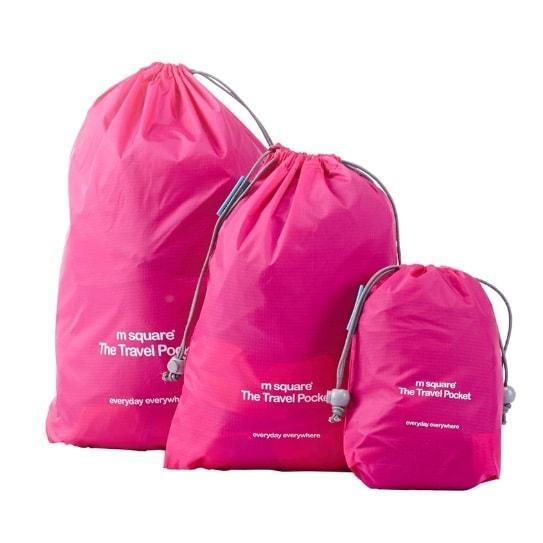 Розовый набор водонепроницаемых мешочков для белья