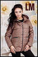 """Женская куртка """"Скарлетт"""" 44-58 батал осенняя весенняя короткая асимметрия демисезонная на молнии с капюшоном"""