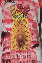 "Подростковая борцовка для девочки камни ""Кошка""(рост от 116 см до 152 см), фото 2"