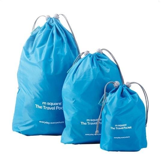 Голубой набор водонепроницаемых мешочков для белья