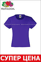 Детская Классическая футболка для девочек Фиолетовая Fruit of the loom 61-005-PE 14-15