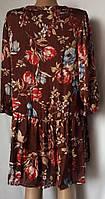 Женская блуза - платье женская CasaBlanca из атласного, очень тонкого шелка размер XХL, фото 1