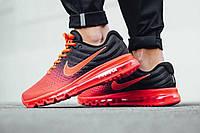 Кроссовки мужские Nike Air Мax 2017 Red/Black (найк аир макс) черные