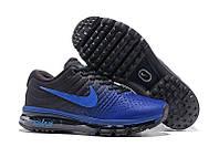 Кроссовки мужские Nike Air Мax 2017 Black/Blue (найк аир макс) черные