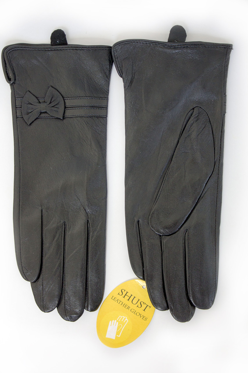 Женские кожаные перчатки ВЯЗКА Большие W22-160051s3
