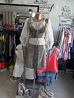 Женский костюм кожаный летний дизайнерский