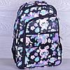 """Рюкзак школьный """"Котики"""". 7-11 класс. Черный. Оптом и в розницу"""