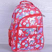 """Рюкзак школьный """"Котики"""". 7-11 класс. Красный. Оптом и в розницу"""