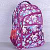 """Рюкзак школьный """"Котики"""". 7-11 класс. Фиолетовый. Оптом и в розницу"""