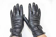 Женские кожаные перчатки Вязка Сенсорные W22-160053, фото 3