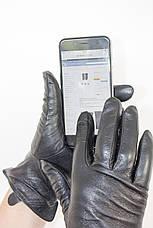 Женские кожаные перчатки ВЯЗКА СЕНСОРНЫЕ Средние W22-160043s2, фото 2