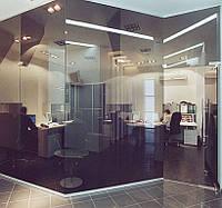 Тонированные перегородки в офис (бронза)