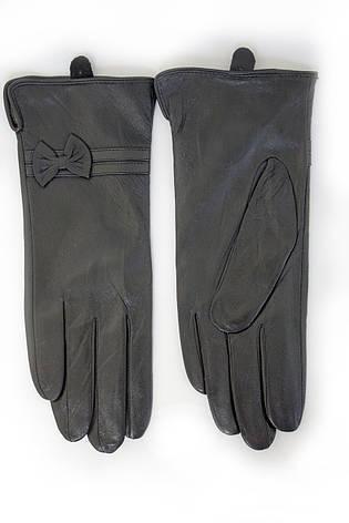 Женские кожаные перчатки Вязка Сенсорные W22-160053, фото 2