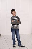 Свитер Many&Many для мальчика серый, Орнамент., фото 1