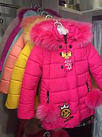 """Куртка детская зимняя с мехом """"Смайл"""", фото 1"""