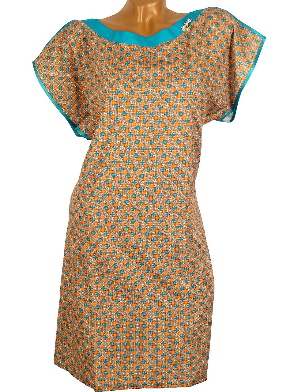 Оригинальное женское платье с украшением (54-56)