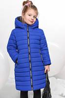 Пальто зимнее детское  для девочки без меха. Пуховик.