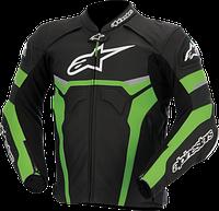 Мотокуртка ALPINESTARS Celer кожа черный зеленый белый 52