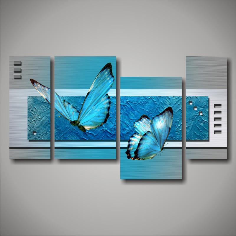 """Модульная картина """"Голубые бабочки"""""""