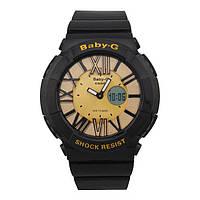 СТИЛЬНЫЕ !! Женские  часы Casio G-Shock  BABY-G BGA-160 BLACK - GOLD (касио джи шок)