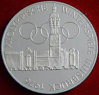 Серебряная монета Австрии 100 шиллингов. 1976 год