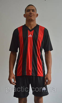 Форма футбольна Practic black-red, фото 2