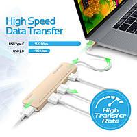 USB-хаб Promate BarHub-C Silver (barhub-c.silver), фото 1